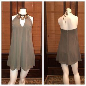 Bebe Embellished Halter Dress